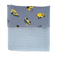 Ledikant deken voertuigen oker