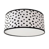 plafondlamp stip zwart/wit